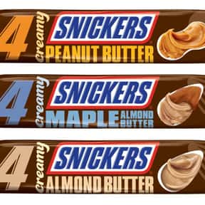 Creamy Snickers Bars is listed (or ranked) 10 on the list The Best New Candy Of 2019