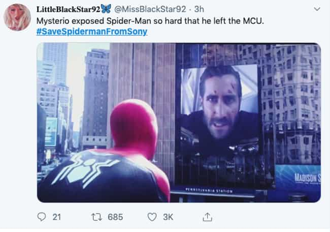 It's All Mysterio's Fault is listed (or ranked) 2 on the list The Best #SaveSpidermanFromSony Tweets We Could Find