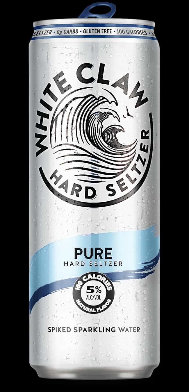It is a graphic of Exceptional White Claw Hard Seltzer Label