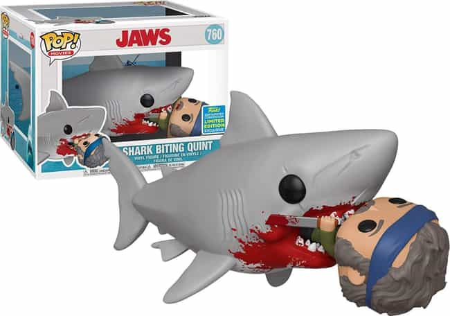 'Jaws' Shark Biting Quint is listed (or ranked) 1 on the list Creepy Funkos Every Horror Movie Fan Needs