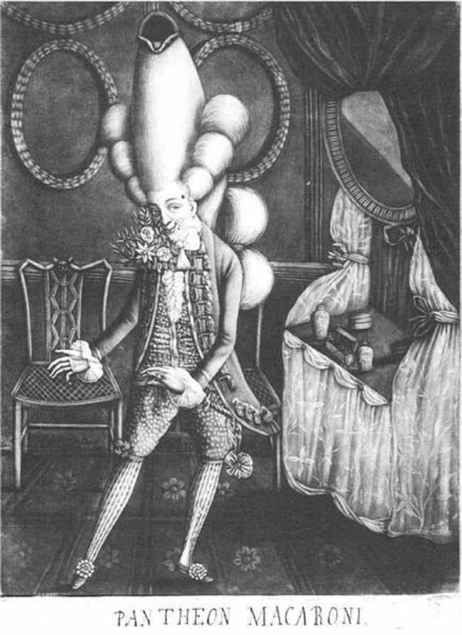 Elaborate Wigs Functioned As A... is listed (or ranked) 2 on the list Macaroni Fashion Was So Ridiculous, We Still Make Fun Of It Centuries Later