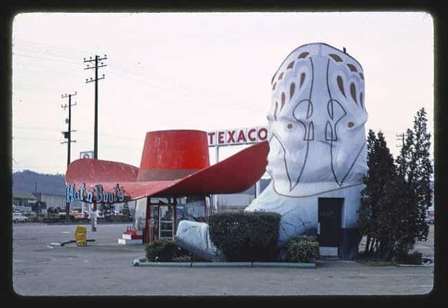 Hat 'n Boots Gas Station, Seat... is listed (or ranked) 4 on the list 21 Bizarre Roadside Attractions From Across America