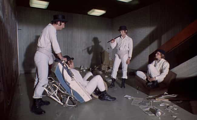The White Outfits And External... is listed (or ranked) 2 on the list Kubrick And Codpieces: Behind The Scenes Of 'A Clockwork Orange'