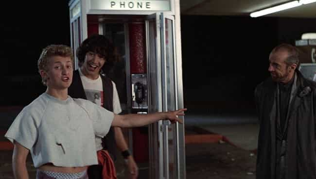 The Phone Booth Was A Rickety ... is listed (or ranked) 1 on the list Behind-The-Scenes Stories From The Making Of 'Bill & Ted's Excellent Adventure'