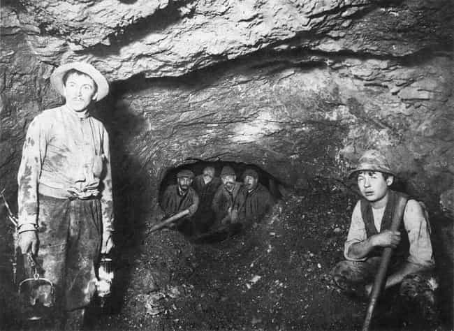 German Miners, 1905 is listed (or ranked) 2 on the list 17 Historical Photos Of Caves People With Cleithrophobia Should Avoid