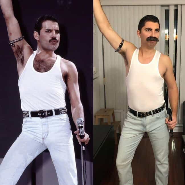 Freddie Mercury is listed (or ranked) 3 on the list Hilarious Halloween Costumes For Lazy People