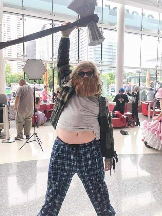 Fat Thor is listed (or ranked) 2 on the list Hilarious Halloween Costumes For Lazy People