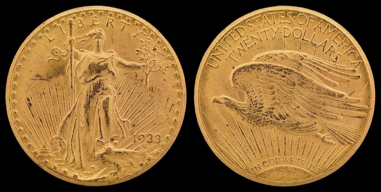 1933 Saint Gaudens Double Eagle $20 Coin