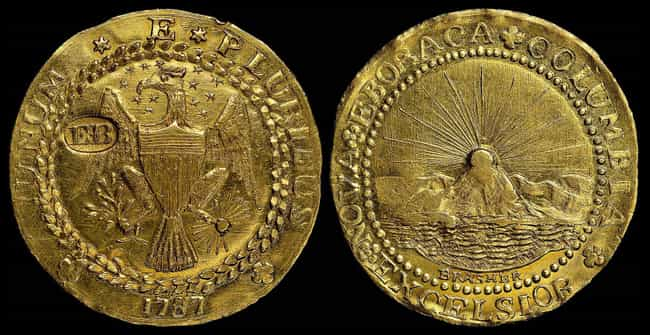 1787 Brasher Doubloon ... is listed (or ranked) 3 on the list The Most Valuable US Coins Of All Time
