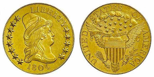 1804 Gold $10 Piece is listed (or ranked) 4 on the list The Most Valuable US Coins Of All Time
