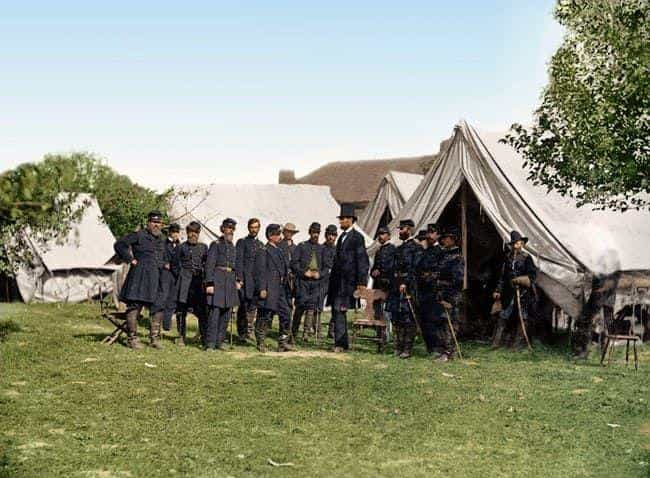 Lincoln Meets With Gener... is listed (or ranked) 1 on the list 21 Colorized Photos So Vivid They'll Change How You See the Civil War