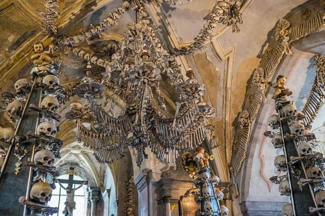 Sedlec Ossuary In Kutná Hora, ... is listed (or ranked) 1 on the list Crypts And 'Bone Churches' Around The World That Are Open For Visitors