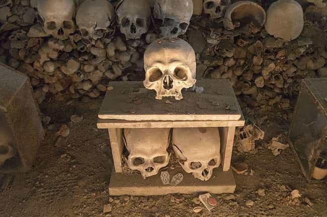 Fontanelle Cemetery In Naples,... is listed (or ranked) 3 on the list Crypts And 'Bone Churches' Around The World That Are Open For Visitors