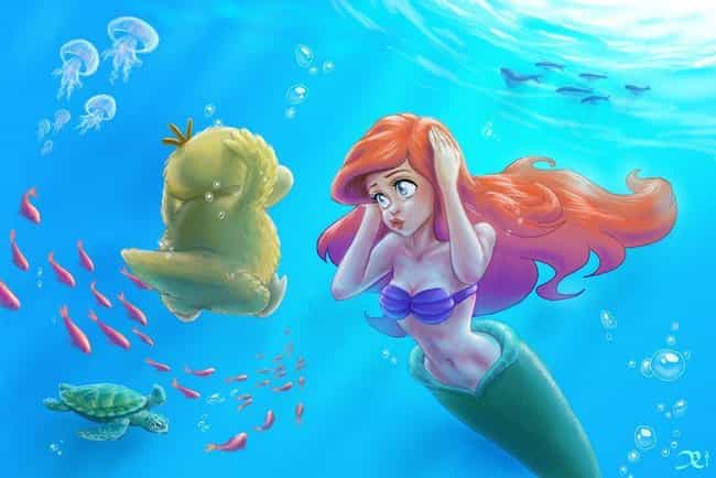 Ariel Practicing Her Duck Face is listed (or ranked) 1 on the list 18 Amazing Fan Art Creations Dedicated To Psyduck