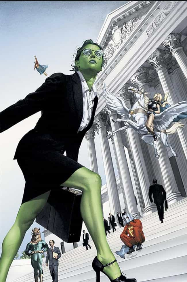 She's A Hero Who Fights ... is listed (or ranked) 2 on the list She-Hulk Is A Super-Powered Lawyer Who Can Go Toe-To-Toe With Her Big Green Cousin