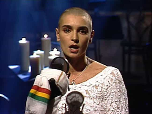 O'Connor Launched Into An A Ca... is listed (or ranked) 1 on the list An In-Depth Behind-The-Scenes Look At Sinead O'Connor's Controversial 'SNL' Appearance