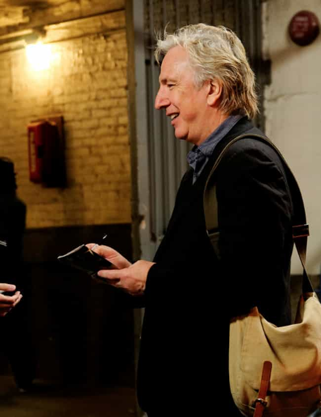 He Bought A Journalist A New D... is listed (or ranked) 1 on the list Regular People Who've Met Alan Rickman Describe What It Was Like