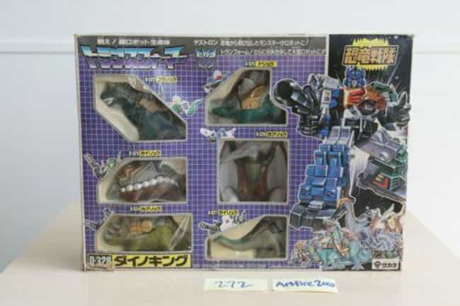 Transformers Dinoking Giftset ... is listed (or ranked) 3 on the list Vintage Transformers That Are Worth A Ton Now