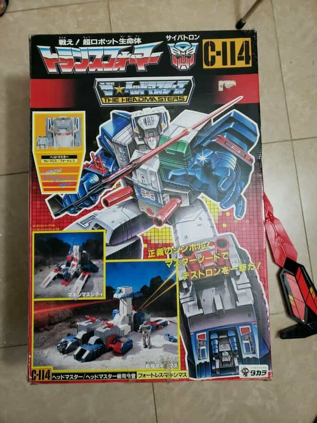 Headmasters Fortress Maximus (... is listed (or ranked) 4 on the list Vintage Transformers That Are Worth A Ton Now