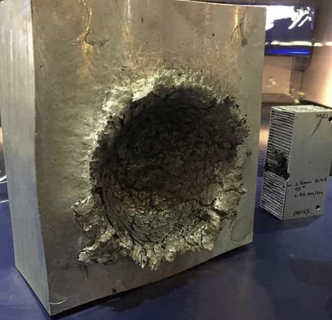 This Aluminum Block Hit With A... is listed (or ranked) 1 on the list 20 Interesting Pictures That Will Make You Say 'Huh'