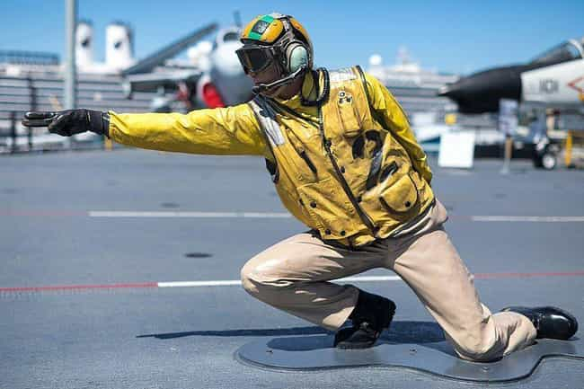 The Flight Deck Is The World's... is listed (or ranked) 2 on the list What Is Daily Life On An Aircraft Carrier Like?