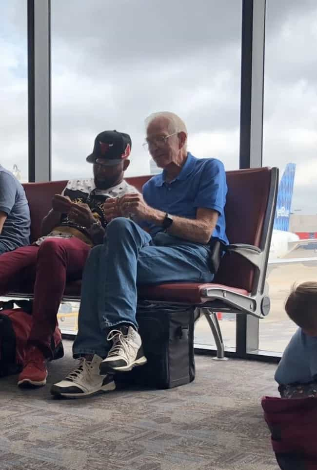 This Older Man Teaching A Youn... is listed (or ranked) 4 on the list 17 Photos We Found Online That Will Make Your Week A Little Better