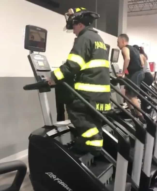 This Firefighter Who Climbed 1... is listed (or ranked) 3 on the list We Found A Bunch Of Random Pictures Of People Being Awesome To Make Your Day Better