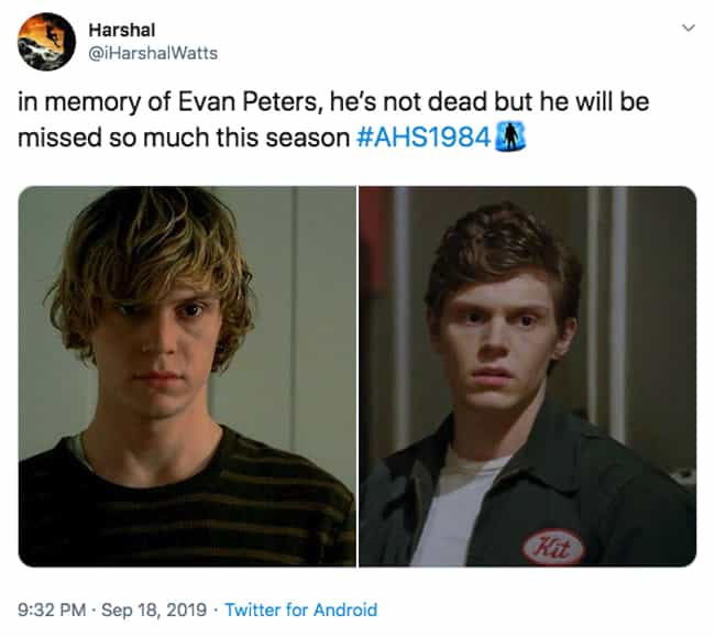 Sometimes, We Can Still Hear H... is listed (or ranked) 1 on the list The 20 Best Twitter Reactions To Episode 1 Of 'American Horror Story: 1984'