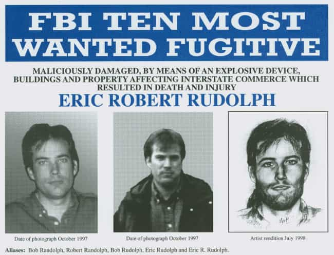 Rudolph's Family Lived O... is listed (or ranked) 1 on the list True Details About Olympic Park Bomber Eric Rudolph