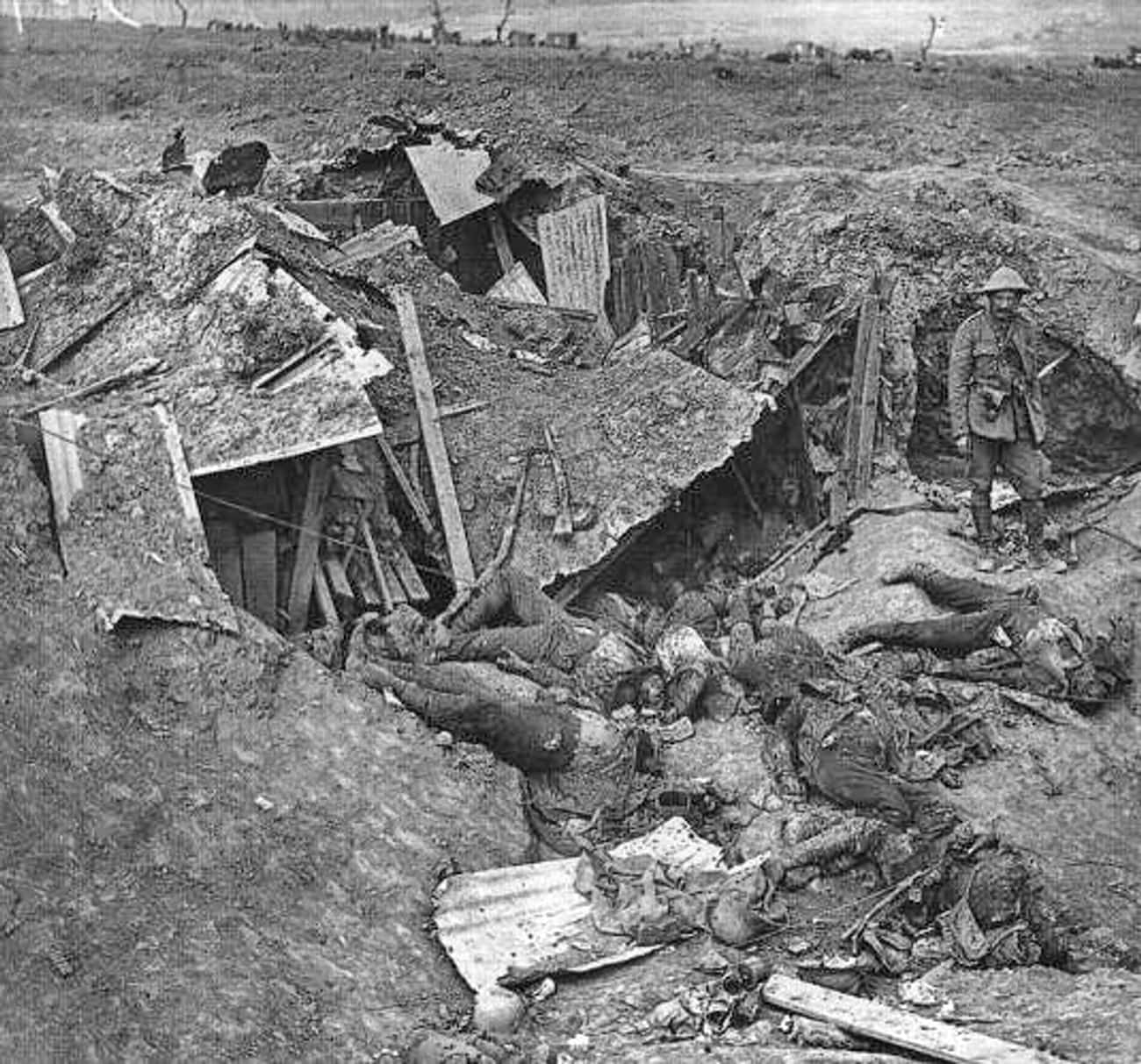 'There Were Men Falling Back I is listed (or ranked) 4 on the list WWI Soldiers Describe What It Was Like To Go 'Over The Top' In Trench Warfare