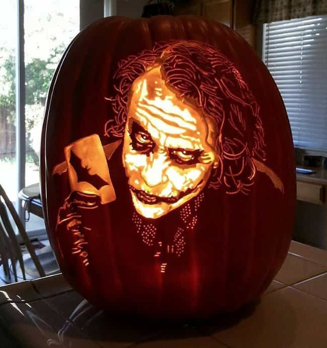 Joker is listed (or ranked) 2 on the list The Best Pumpkin Carvings By The Pumpkin Geek