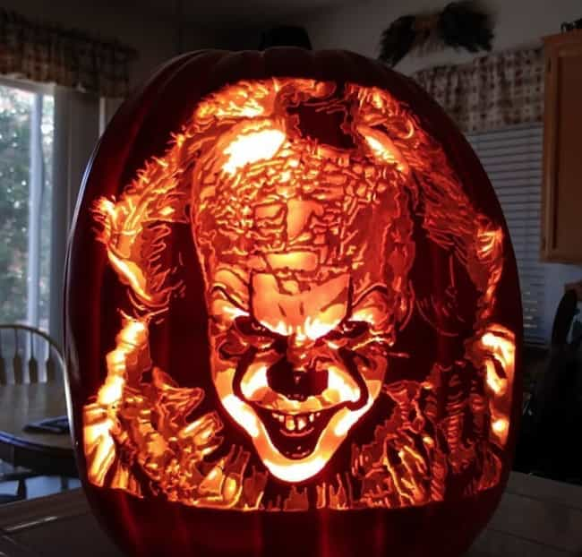 Pennywise is listed (or ranked) 1 on the list The Best Pumpkin Carvings By The Pumpkin Geek