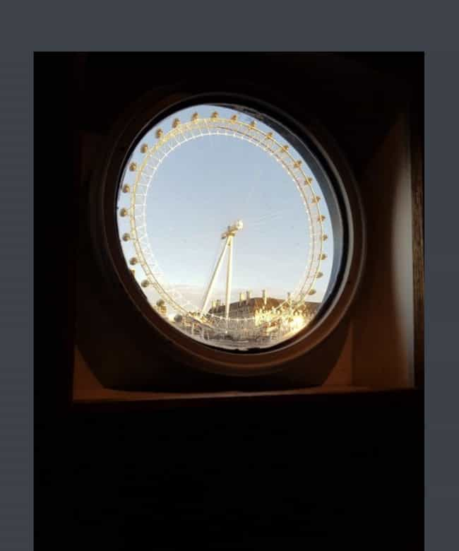 London Eye Through A Boat's Wi... is listed (or ranked) 1 on the list 28 Pictures Of Things Fitting Perfectly Together That Just Feel Right