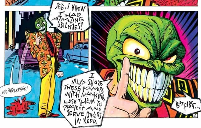 The Mask Is Known As The 'Big-... is listed (or ranked) 3 on the list 'The Mask' May Be A Little Messed Up, But It's Not Nearly As Twisted As The Comic It's Based On