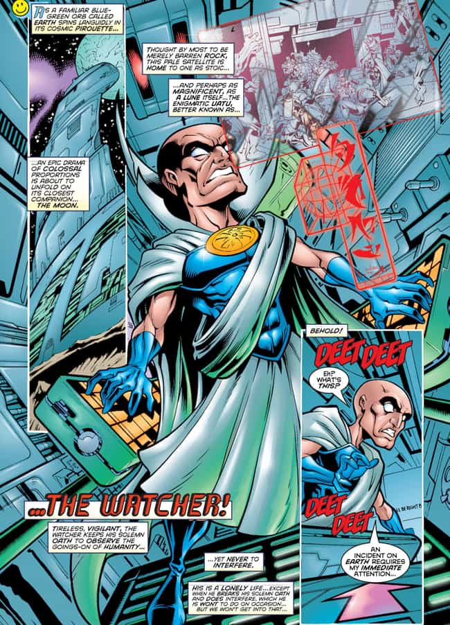 Uatu Watches Earth's Solar Sys... is listed (or ranked) 4 on the list Who Is The Watcher And What Is He Watching?