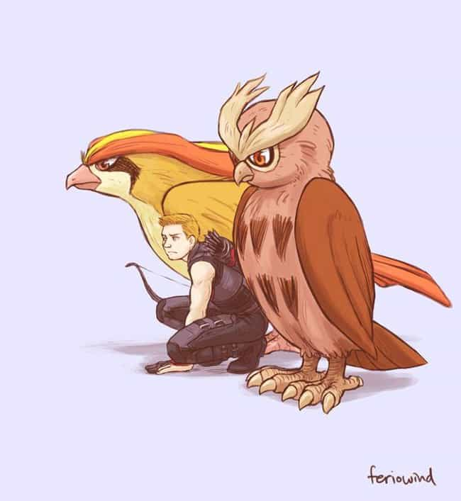 Clint Barton is listed (or ranked) 3 on the list This Artist Draws The Avengers As Pokemon Trainers