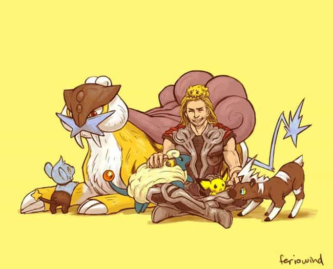 Thor is listed (or ranked) 1 on the list This Artist Draws The Avengers As Pokemon Trainers