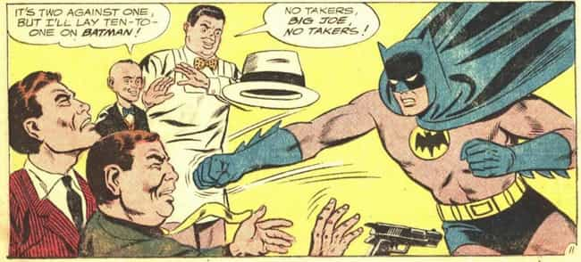 1964: The 'New Look' Bat... is listed (or ranked) 3 on the list The Visual Evolution Of Batman's Batsuit