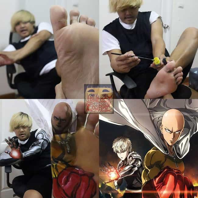 Saitama & Genos is listed (or ranked) 3 on the list This Man Is The Master Of Low Cost Anime Cosplay