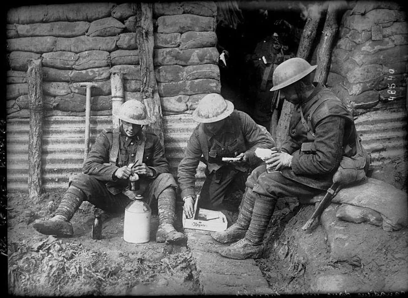 Soldiers Had Equipment To Ster is listed (or ranked) 2 on the list What Was Hygiene Like For Soldiers In WWI Trench Warfare?