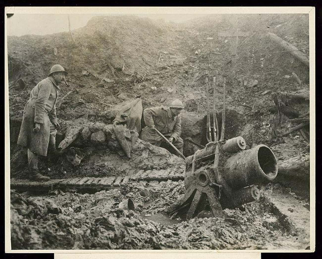 Soldiers Used Either Buckets O is listed (or ranked) 1 on the list What Was Hygiene Like For Soldiers In WWI Trench Warfare?