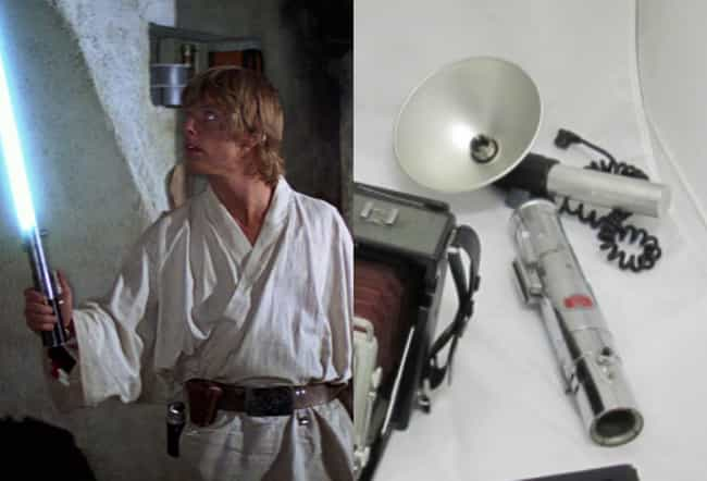 The Original Lightsabers Were ... is listed (or ranked) 1 on the list Cheap Store-Bought Items Or Junk Used As 'Star Wars' Props