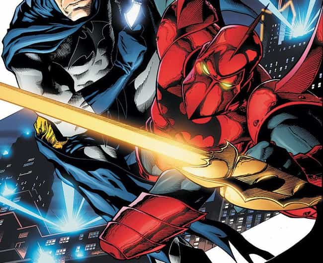 Tangent Comics Batman is listed (or ranked) 4 on the list The Coolest International Incarnations Of Popular Superheroes