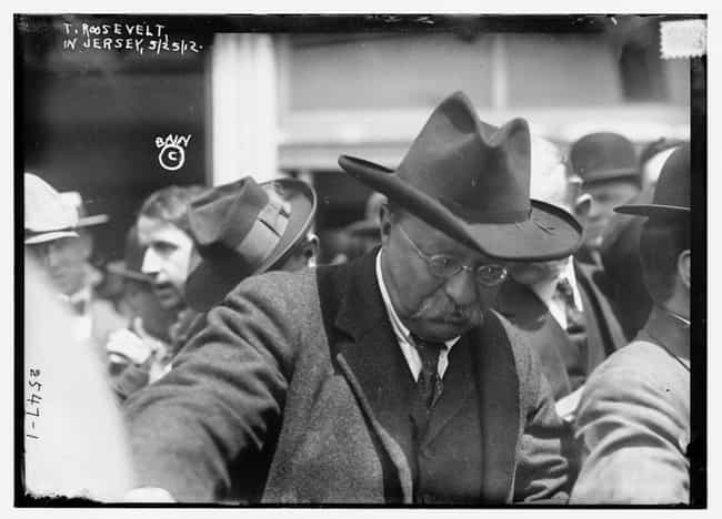 He Was Leaving His Hotel Weari... is listed (or ranked) 1 on the list That Time Teddy Roosevelt Got Shot In The Chest And Still Gave An 84-Minute Speech