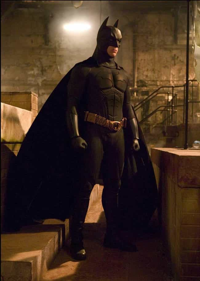 The 'Batman Begins' Batsuit is listed (or ranked) 3 on the list Every Batsuit Ever Worn Onscreen, Ranked