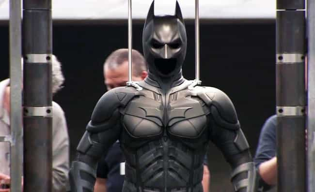 The 'Dark Knight' Batsuit is listed (or ranked) 2 on the list Every Batsuit Ever Worn Onscreen, Ranked