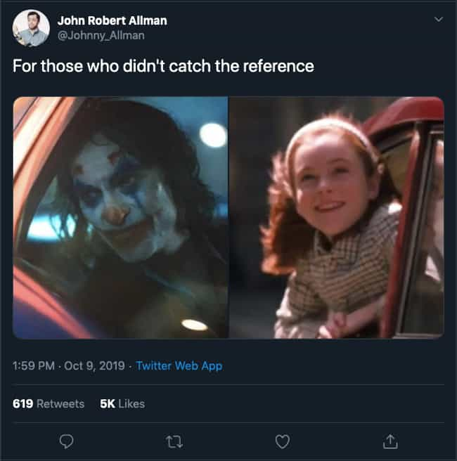 Is It A 'Parent Trap' Referenc... is listed (or ranked) 2 on the list The Funniest 'For Those Who Missed The Reference' Tweets About The Movie 'Joker'