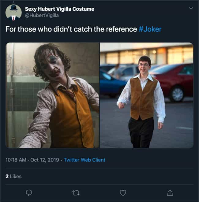 Is It A 'Superbad' Reference? is listed (or ranked) 1 on the list The Funniest 'For Those Who Missed The Reference' Tweets About The Movie 'Joker'