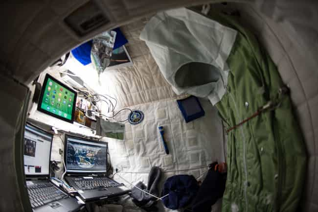 For Spans Reaching Up To Six M... is listed (or ranked) 3 on the list What It's Like To Live And Work On The International Space Station