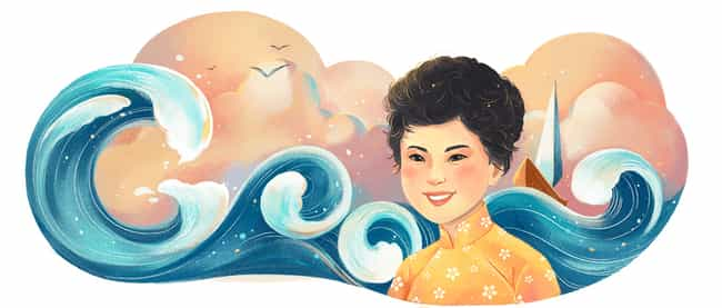 Xuân Quỳnh is listed (or ranked) 1215 on the list Every Person Who Has Been Immortalized in a Google Doodle